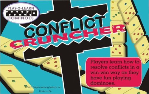 Franklin Learning Systems Play 2 Learn Dominoes, Conflict Cruncher Game