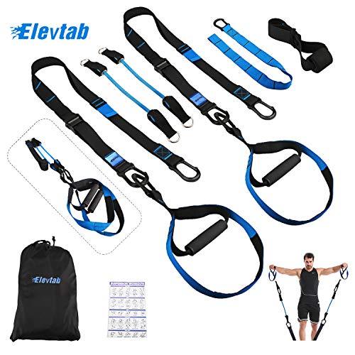 Elevtab Bodyweight Resistance Training Kit 2.0-2 in 1 Suspension Trainer