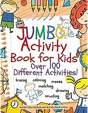 Jumbo Activity Book for Kids: Jumbo Coloring Book and Activity Book in One: Giant Coloring Book and Activity Book for Pre-K to First Grade
