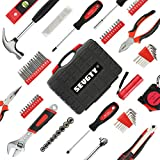 SEVGTY 78 Pcs Hand Tool Set Basic Home Tool Set Household Tool Kit with Plastic Blow Molded Tool Box Storage Case - Ideal for Home Repair & Maintenance