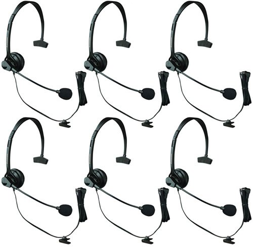 - Panasonic KX-TCA60 Noise Canceling Over the Head Headset (6 Pack)