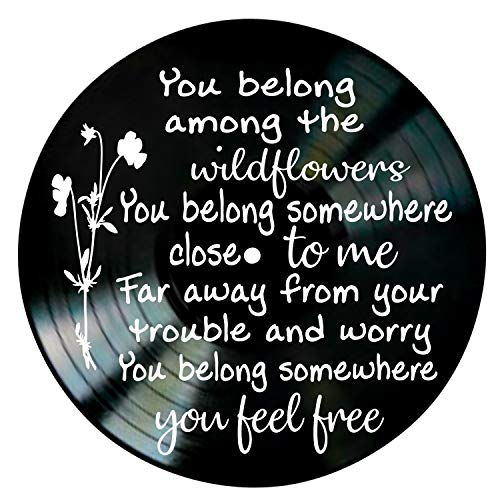 Wildflowers Song Lyric Art Inspired by Tom Petty Vinyl Record Album Wall -
