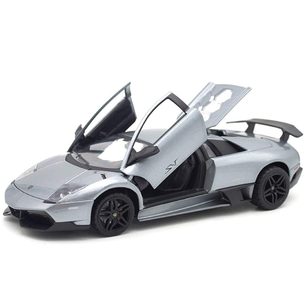 XINGPING-TOY Legierung Legierung Legierung Auto Modell Simulation Lamborghini 1 24 Statisches Auto Modell Collection Level Schmuck Dekoration Auto Modell (Farbe   Silber) 393214