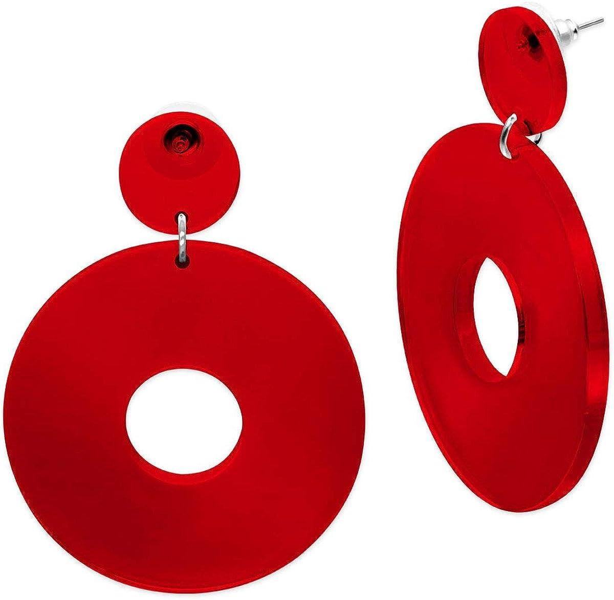 SoulCats/® 1 paire de boucles doreilles tendance dans le style r/étro des ann/ées 80 pour femme