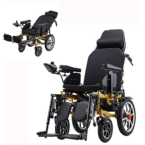 XHNICE Lightweight Electric Wheelchair, Foldable Power Compact Mobility Aid Wheel Chair, Portable Medical Scooter with Durable and Easy to Drive for Disabled Elderly