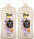 Body Wash Pump Tone Soothing Care Body Wash, Oatmeal and Shea Butter, 32 OuncePump Bottle (Pack of 2)