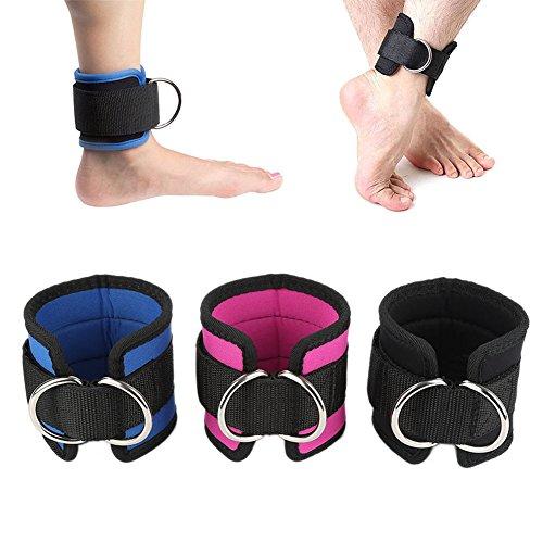 Guoyihua Cheville Anneau double anneau D Sangle ventrale Abduction Multi Gym câble Attachment cuisse de jambe Poulie hanches pour un maximum de séance d'entraînement d'exercice
