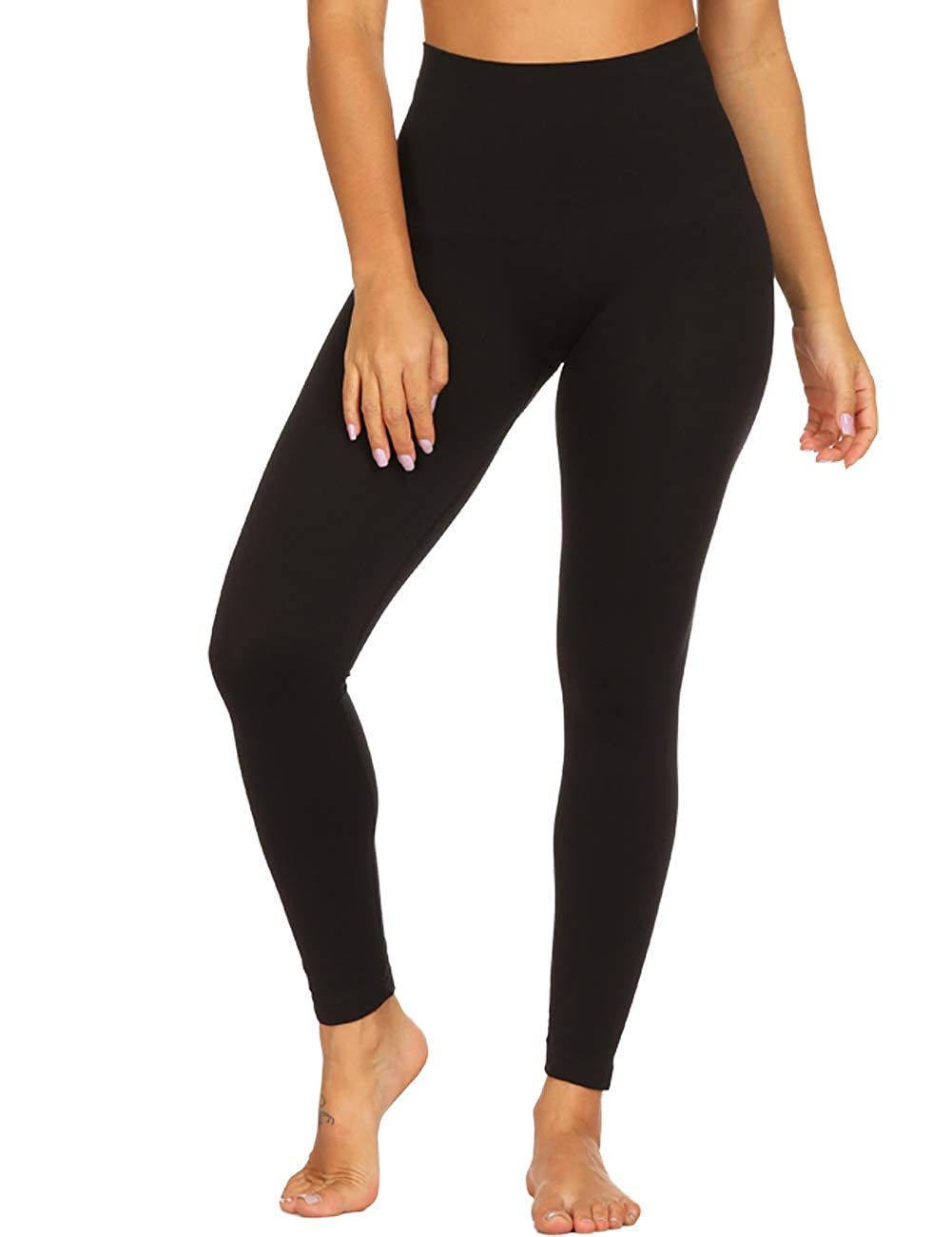 TRAINER SECRET Women Premium Thick High Waist Tummy Compression Slimming Seamless Leggings