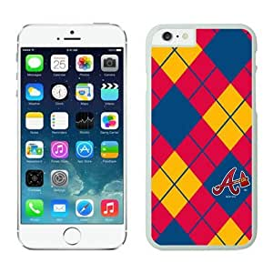DIY cool Case Team Baseball Atlanta Braves for iPhone 6 Cases White with 4.7 inch