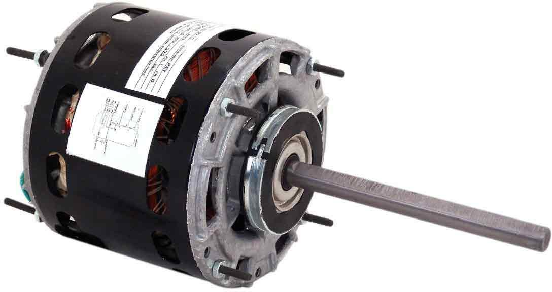 208-230-Volt 1//4-HP 1075-RPM 2-Amp and Sleeve Bearing Century 9719 Blower Motor with 5.0-Inch Frame Diameter