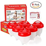 #3: Egglettes Egg Cooker - Hard Boiled Eggs without the Shell, Eggies AS SEEN ON TV,6 Pack