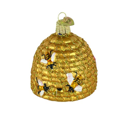 Old World Christmas Bee Skep Glass Blown Christmas Tree Ornament Deal (Large Image)