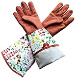 Inf-way Rose Pruning Gloves, Long Goatshin Leather Gardening Gloves, Thorn and Cut Proof Rose Garden Gloves
