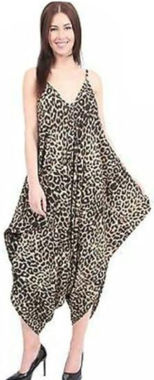 New Ladies Printed Cami Lagenlook Romper Baggy Harem Jumpsuit Playsuit Plus Size