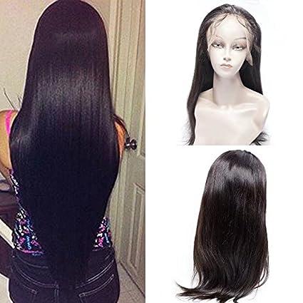 Maxine 8 un 100% sin procesar Virgen Pelo Peluca Lace Front brasileño pelo humano Remy