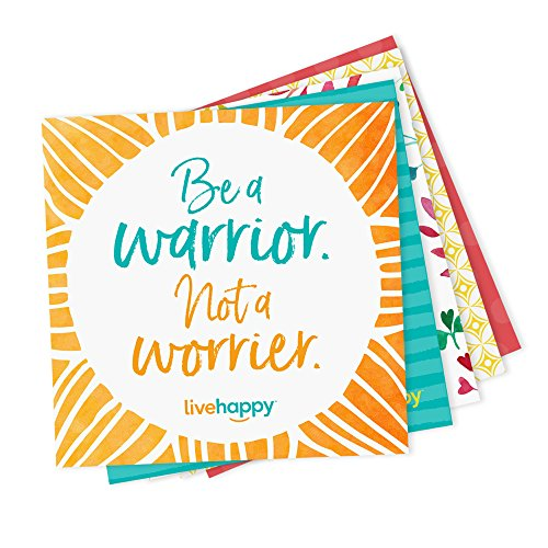 Live Happy Self Stick Notes, 3 inch x 3 inch, 5 Pads/Pack, 50 Sheets/Pad (10 Work-Themed Encouraging Messages on Sticky Notes)