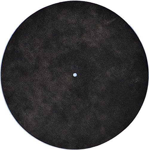 Hide in the Sound - Leather Turntable Platter Mat - Black Suede (Acrylic Turntable Platter compare prices)