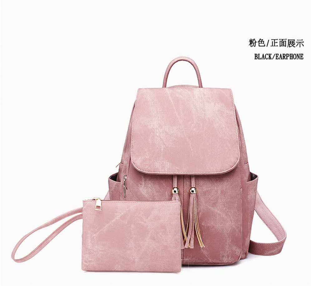 YJZZ Fashion Womens Bag Trend PU Leather Womens Shoulder Bag Flow Backpack 20L or Less//Black