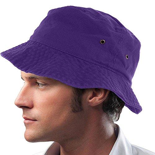 Hugo Ball Costume (Purple_(US Seller) Cotton Boonie Fishing Summer Hat Cap Sportsman)