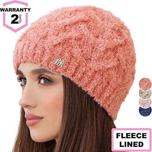 Braxton Beanie for Women - Knit Winter Warm Fashion Fleece Hat - Wool Snow Boucle Outdoor Ski Cap