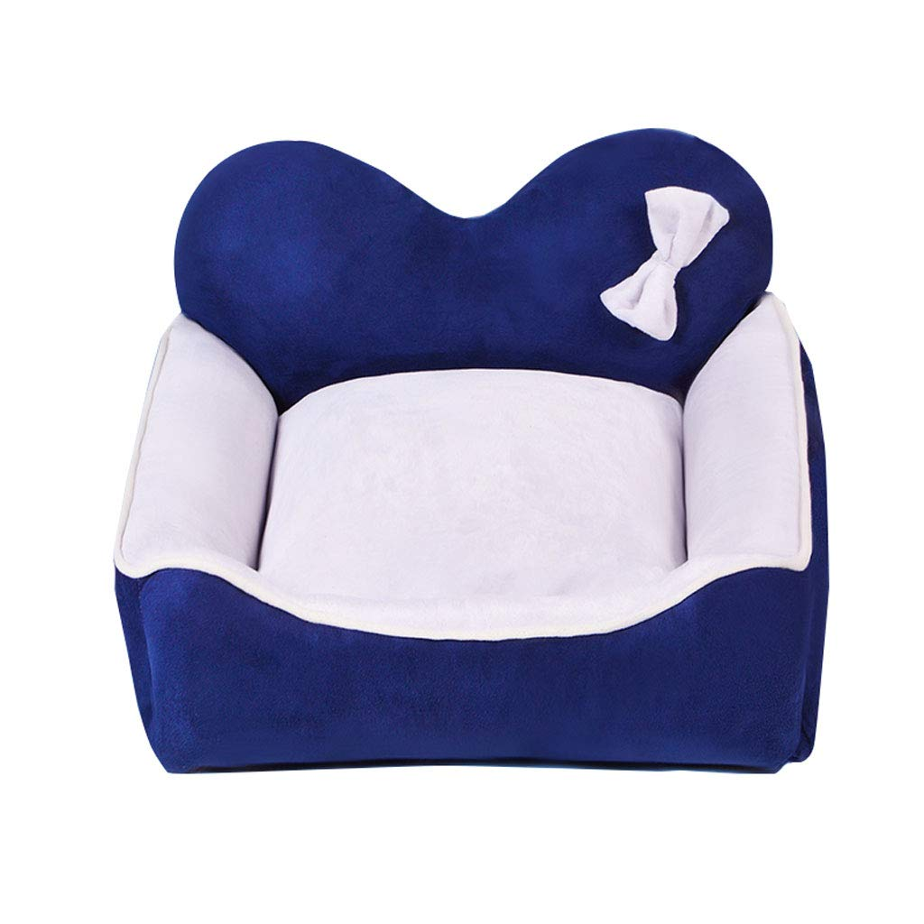 bluee M 605021cm bluee M 605021cm Kennel QIQIDEDIAN Removable And Washable Pet Net Red Four Seasons Small Medium Large Dog Bed Winter Warm (color   bluee, Size   M 60  50  21cm)