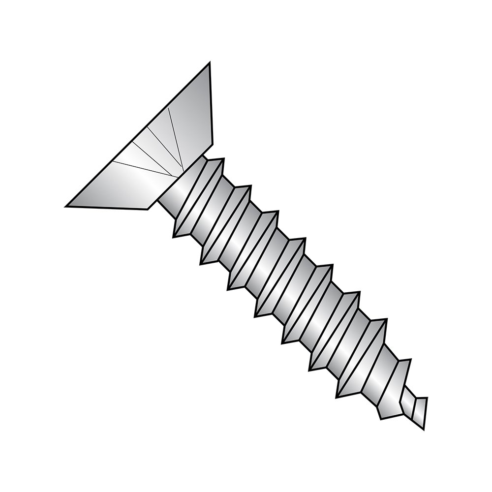 Small Parts 0806APU188 Pack of 100 3//8 Length 18-8 Stainless Steel Sheet Metal Screw 3//8 Length Undercut 82 degrees Flat Head Type A Phillips Drive Plain Finish Pack of 100 #8-15 Thread Size