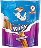 Busy Rollhide Dog Treats, Small/Medium, 12-Ounce Pouch, Pack of 1 by Purina Busy