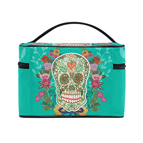 The Shaving Mask Of Art - Sugar Skull Dia De Los Muertos Portable Travel Makeup Cosmetic Bags Toiletry Organizer Multifunction Case