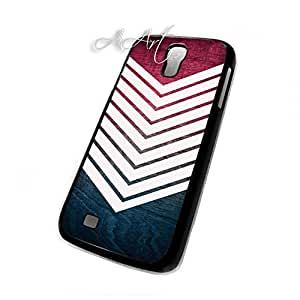 Colorful Wood Geometric design Galaxy S4 case / Samsung Galaxy S4 case /zigzag Wood geometric Galaxy S4 Case - 4G AArt #TM47 -AT&T, Verizon etc..
