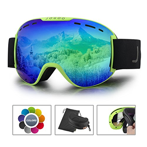 Jogoo Ski Goggles For Snowboard and Snowmobile,Interchangeable Lens and Magnetic Detachable Foam,UV400 Protection and Anti-fog Design OTG Snow Goggles for Men Women Youth & - Discount Goggles Ski