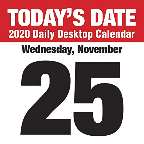 (2020 Today's Date Daily Desktop Calendar)