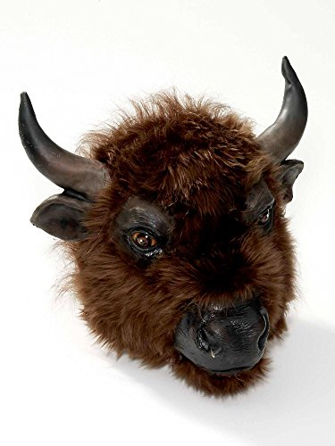Forum Novelties Men's Buffalo Latex Mask, Brown, One Size -