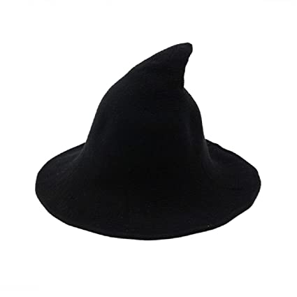 New Winter Wool Knitted Fedoras Top Sharp Hats for Women Fedora Cap Z-5969-1pc-Small Family (Black, 56~58CM) at Amazon Womens Clothing store: