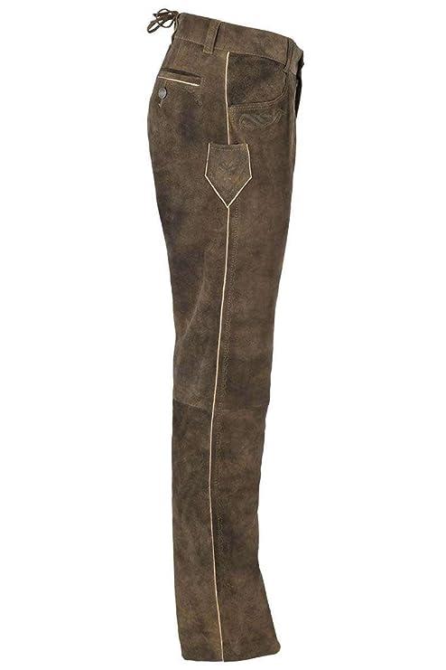 Spieth   Wensky Herren Trachten Lederhose lang Wildbock Antik braun, braun,   Amazon.de  Bekleidung 08ffb16788