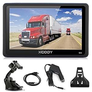 Xgody 5 Inch Portable Car GPS Navigation 504 Sat Nav Touch Screen Built-in 8GB RAM FM MP3 MP4 Lifetime Map Vehicle Navigator