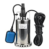 EXTRAUP 1HP 3000 GPH Stainless Steel Submersible