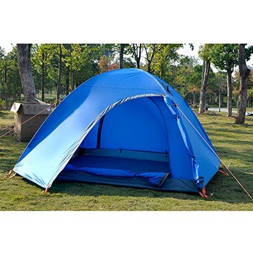 精度踏みつけ豊かにするTY&WJ 家族 キャンプテント,屋外 アルミ製ポール テント 二重層 旅行 ハイキング 登山 防雨 3-4 人