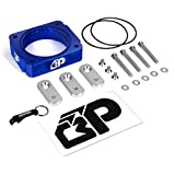 BlackPath - 2005-2010 Mustang Throttle Body Spacer Ford 4.0L V6 Only Performance (Blue) T6 Billet