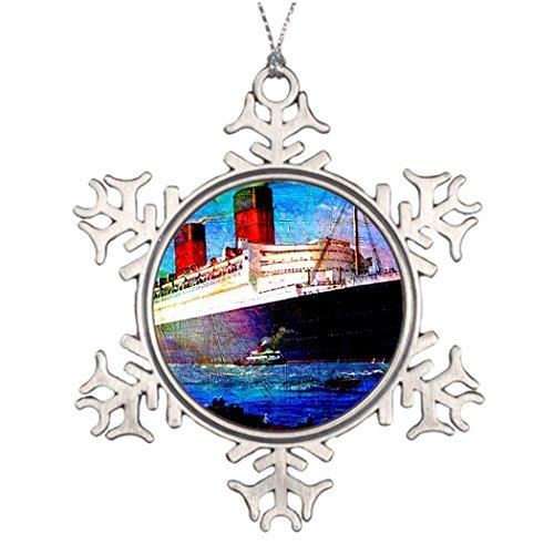 onalised Christmas Tree Decoration QUEEN MARY 2 Christmas Tree Snowflake Ornaments Ships ()