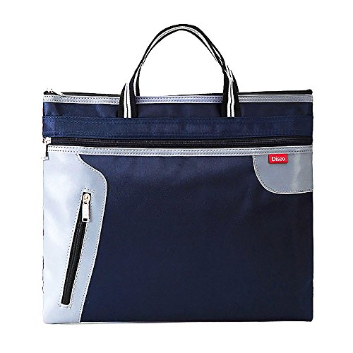 Mmrm A4 Expanding File Zipper Pocket Filing Business Document Bag Folder Portfolio Bag Tote-Blue by Mmrm