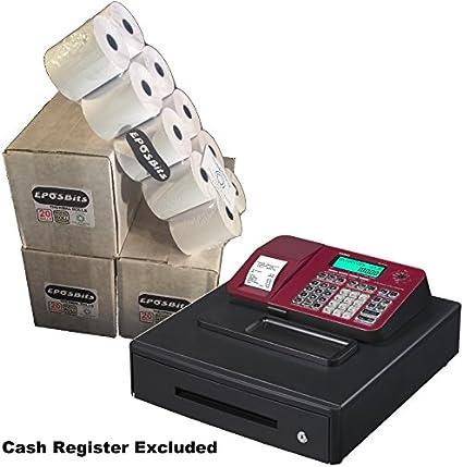 eposbits/® Marque rouleaux de Casio se-s100/ses100/ses se S100/100/rouge Caisse enregistreuse Grand tiroir/?/Lot de 20/rouleaux
