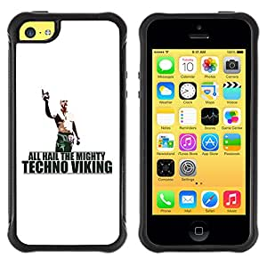 ZAKO Cases / Apple Iphone 5C / Hail Tech Viking Funny / Robusto Prueba de choques Caso Billetera cubierta Shell Armor Funda Case Cover Slim Armor