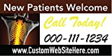 Custom Printed Chiropractic Banner - New Patients Welcome (10' x 5')