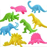 Happy Cherry Plastic Colorful Assorted Dinosaur Animals Small Figure Toy Model - Pack of 32