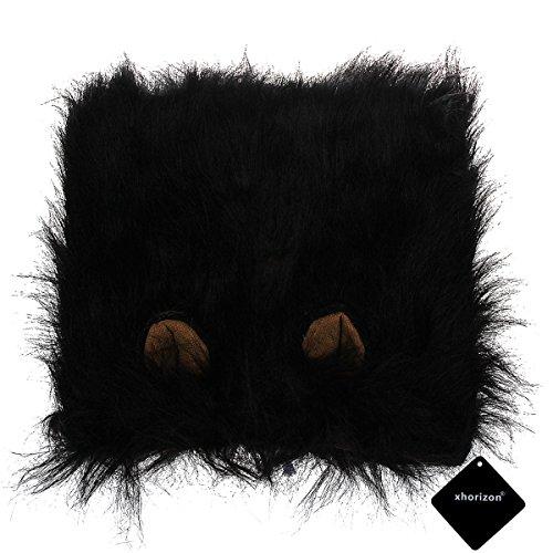xhorizon TM FLK Lion Mane Costume and Big Dog Lion Mane Wigs for Holloween Christmas Party - Large Dog Costume ( With Ears (Top Holloween Costumes)
