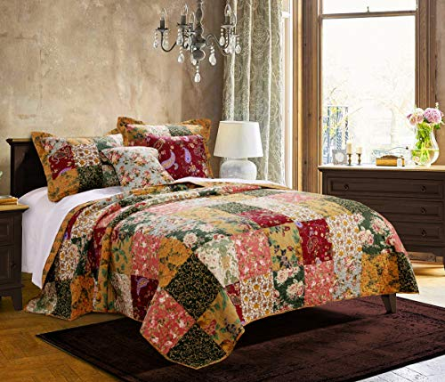 Greenland Home Antique Chic Quilt Set, King/California King, Multi ()