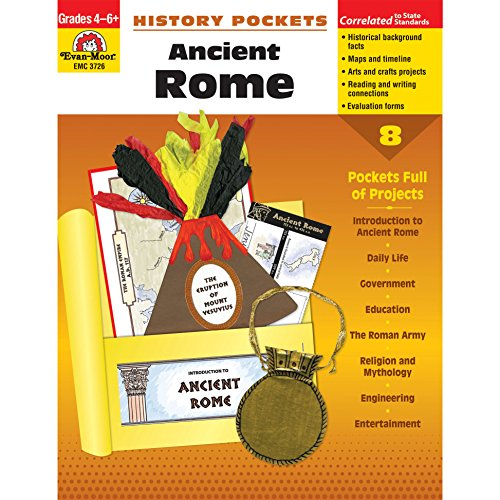 (Evan-Moor EMC3726 History Pockets: Ancient Rome Book, Grades 4-6+)