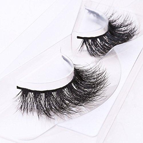 Arimika Long Thick Dramatic Look Handmade Reusable 3D Mink False Eyelashes For Makeup 2 Pair Pack ()