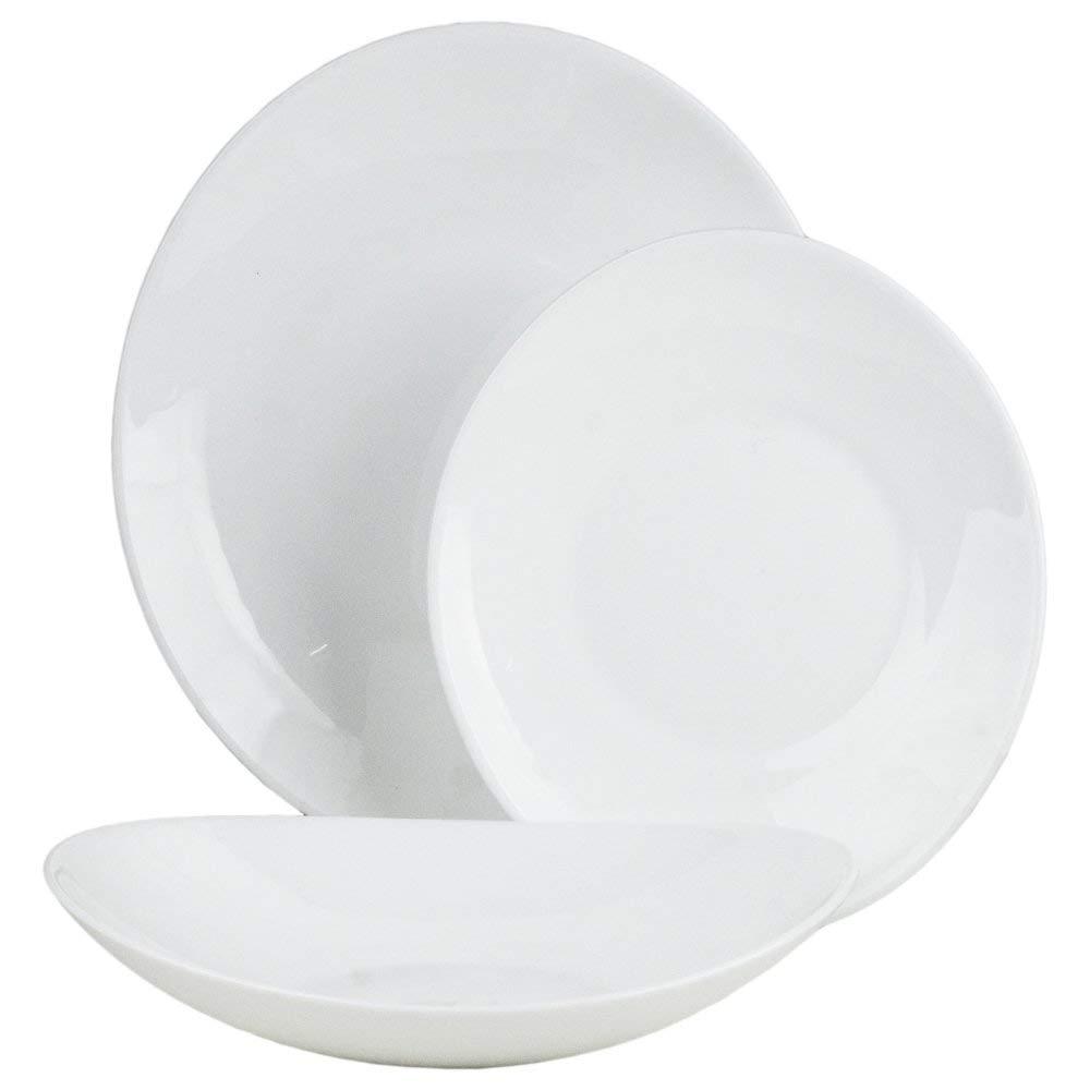 Blanc BORMIOLI ROCCO Prometeo Service Assiettes pi/èces 18/unit/és