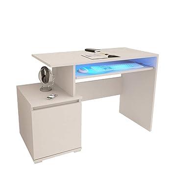 Selsey Giovanni Schreibtischcomputertisch In Weiß Matt Mit